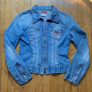 Italian Denim Jacket with Zippers